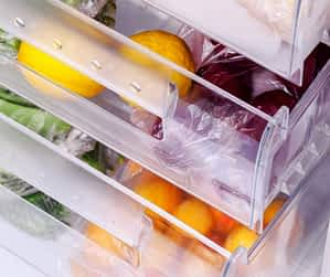 Vegetables in the freezer
